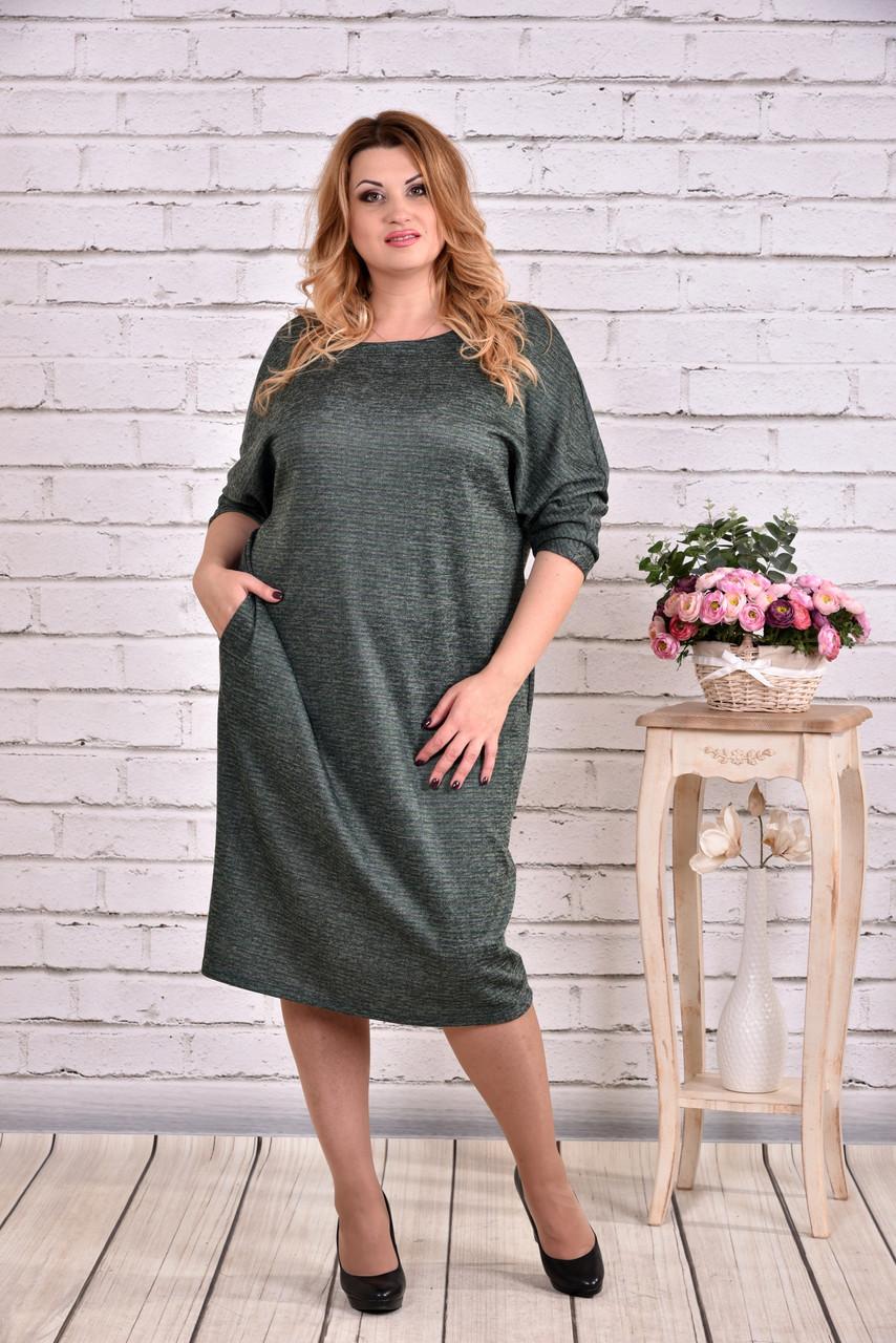 Зеленое длинное платье | 0644-1