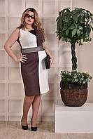 Коричневое платье 0228-1