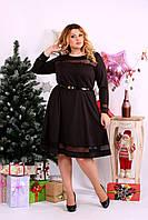 Шоколадное платье с сеточкой | 0664-2