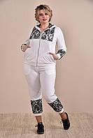 Белый спортивный костюм 0253-4