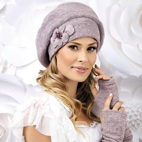 Женский модный беретик Zora меланж от Willi Польша, фото 2