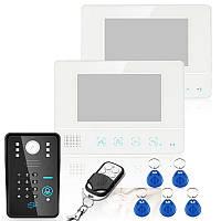 Проводной сенсорный ключ 7-дюймовый телефон видео домофон монитор с клавиатуры дверного звонка RFid SY811WMJIDS12 Эннио