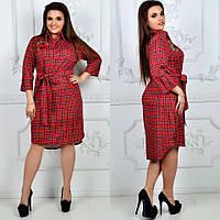 Платье - рубашка женское 8005лл батал