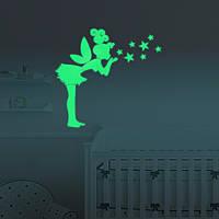 Honana DX-147 57x70см Флуоресцентный светильник Glow Angel Ствол стикер Звезды