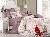Комплект постельного белья сатин евро TM Tag 085