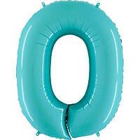 Фольга цифра 0 аквамарин
