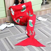 175x90cm рождественские трикотажные хвост русалки одеяло ручной работы крючком бросить супер мягкий диван подстилке