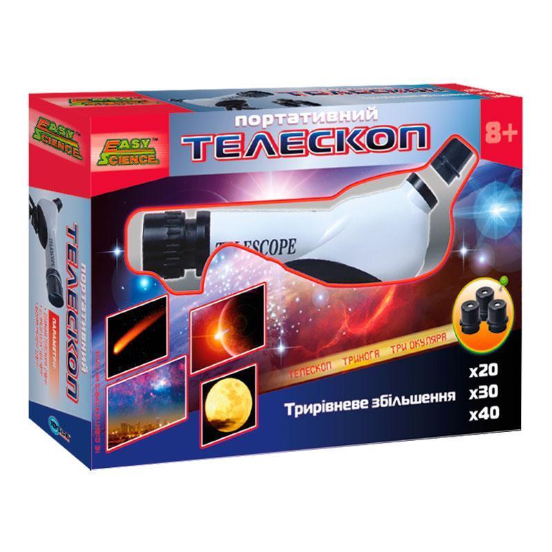 Портативный телескоп, (укр. упаковка), Easy Science