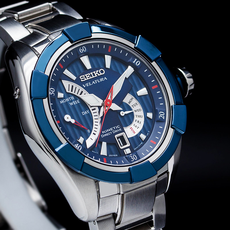 Часы Seiko Velatura SRH017P2 Kinetic Direct Drive 5D44 В