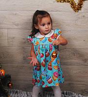 Детское платье(разные расцветки) на рост:68-110 см