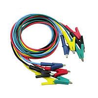 P1024 5 цветов 100см 15а двухсторонняя зажимы испытания кабеля аллигатора зонд подводящий провод