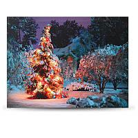 40 x Батарея 30см работает LED Рождество снежный дом передний дерево Xmas холст печати стены искусства