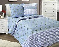 Семейный комплект постельного белья из бязи с простыней на резинке