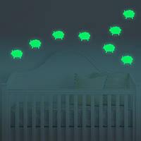 Honana DX-146 9PCS 7x9cm флуоресцентный свет овец стены стикер