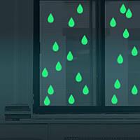 Хонана DX-179 22PCS 4x6.5cm Люминесцентные Glow Raindrop Water Drop стикер стены