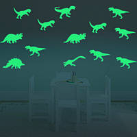 Хонана DX-132 9PCS 15x6cm флуоресцентный свет динозавров стикер стены