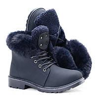 Женские зимние ботинки с искусственным мехом