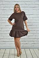 Коричневое платье 0354-1