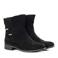Женские ботинки из искусственного замша