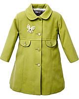 Кашемировое пальто для девочки Мэри Горчица Размер 86 - 92 см, фото 1