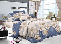 Двуспальный евро комплект постельного белья из натуральной ткани