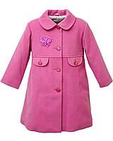Пальто для девочки Мэри Розовый Размер 98 - 128 см, фото 1