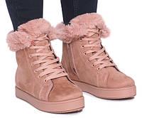 Женские зимние ботинки Timberland, цвет розовый