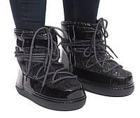 Зимние ботинки лаковые. Хит продаж!!!!