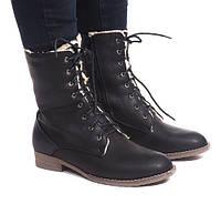 Тёплые высокие ботинки для девушек в голодное время