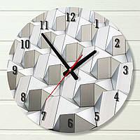 """Настенные часы - """"Стена"""" (на пластике)"""