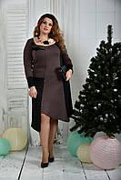 Коричневое платье 0376-1