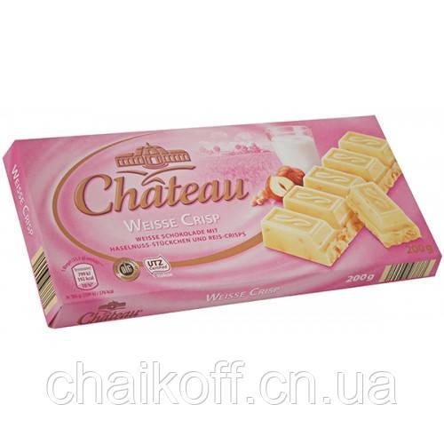 Белый шоколад с кусочками рисовых хлопьев и фундука Chateau Weisse Crisp 200 г