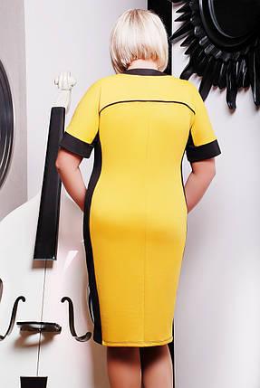 Платье Летиция (горчица+черный) , фото 2