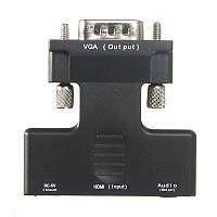 1080P HD Мужской к VGA Женский видео конвертер Аудио адаптерный кабель для ПК DVD HDTV