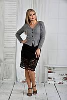 Серая блузка 0395-3