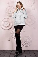 """Короткое кашемировое женское пальто """"Melang"""" с меховым воротником (5 цветов)"""