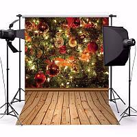 3x5ft рождественские темы дерева подарок украшение из дерева фото винил фоном фон студии реквизита