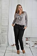 Серая блузка 0409-1