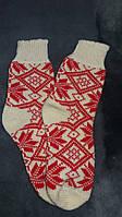 Шерстяные женские носки узор Орнамент