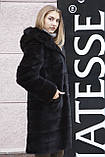 "Норковая шуба с капюшоном ""Иолана"" из норки BlackNafa mink furcoat jacket, фото 4"