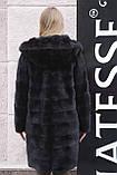 "Норковая шуба с капюшоном ""Иолана"" из норки BlackNafa mink furcoat jacket, фото 5"