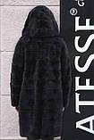 "Норковая шуба с капюшоном ""Иолана"" из норки BlackNafa mink furcoat jacket, фото 6"