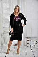 Жакет черная клетка 0401-1-2 (с платьем 0401-1-1 - отдельно)