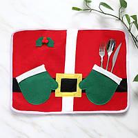 Рождественская перчатка стол коврик коврик для обеденный стол посуда набор домашнего декора рождественские подарки