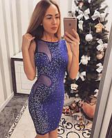 Платье пр-во Турция 3 цвета вставки-сетка размеры 42,44 (С, М) рост модели на фото 165 см