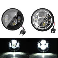 4.65 дюймов пара LED Hi Lo лампы лампы для / Harley Dyna жир боб 2008-2015