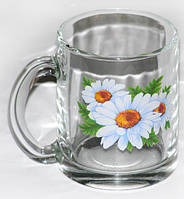 Кружка Чайна 300мл Циліндир МІКС Фрукти+квіти (24)