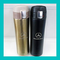 Термос Mercedes (белый, черный, золото)
