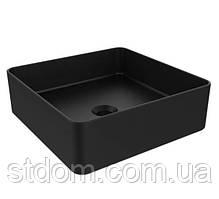 Раковина на стільницю Devit Quadra 1511132B тонкостінна чорна