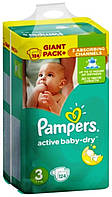 Подгузники Pampers Active Baby-Dry Midi 3 (5-9 кг) Giant Pack Plus, 124 шт.